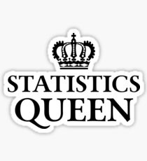 Statistics Queen Sticker