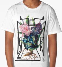 """Labradorite and Two Iris' "" Long T-Shirt"