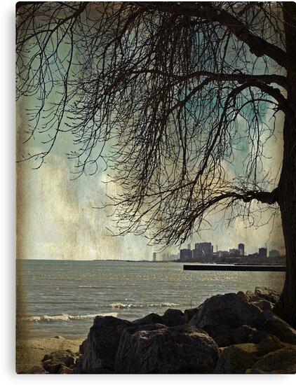 city under a tree by Angel Warda