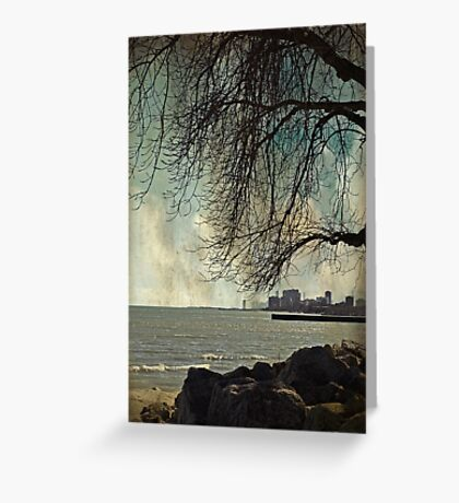 city under a tree Greeting Card