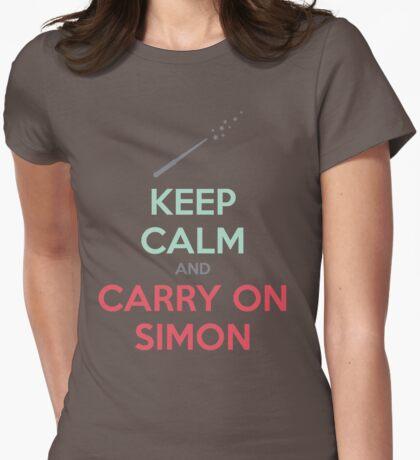 Keep Calm and Carry On Simon (Multi-Color Text) T-Shirt