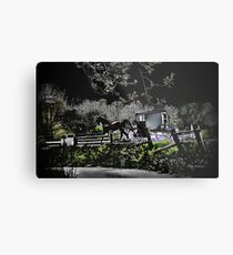 Amish Traveler Metal Print