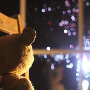 Just a bear, lost in the lights by Joliver42