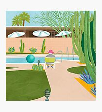 Poolside in Palm Springs Photographic Print