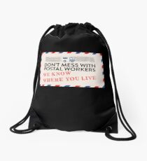 Mail Carrier Mailman Postal Worker Shirt Know Where You Live Drawstring Bag