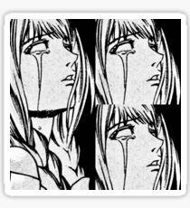 Triste Chicas Club Anime Mange Negro Y Blanco Rasgones Grito