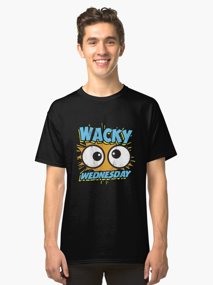 c7443ab67bd3 Wacky Wednesday Googly Eyes Silly Tshirt Comic Style Kids Classic T-Shirt  Front
