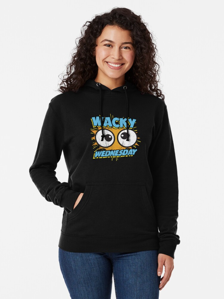 28a8675e1ce2 Alternate view of Wacky Wednesday Googly Eyes Silly Tshirt Comic Style Kids  Lightweight Hoodie