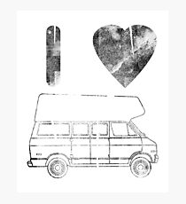 i love Hogh Top Vans (DODGE B200 VAN Photographic Print