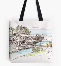 California Beach Town Tote Bag