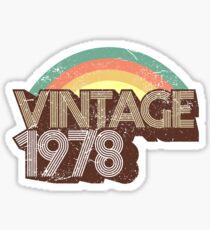 Vintage 1978 Distressed Birthday Sticker