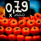 Tomatoes, La Boqueria, Barcelona, Spain by Daniel Webb