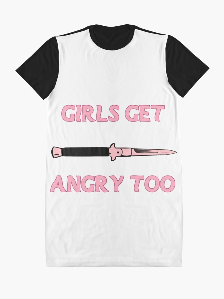 Alternate view of Girls Get Angry Too Graphic T-Shirt Dress