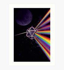 Pink Floyd Dark Side of the Moon Dungeons & Dragons Art Print
