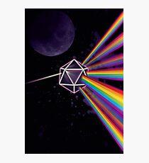 Lámina fotográfica Pink Floyd lado oscuro de la luna Dungeons & Dragons