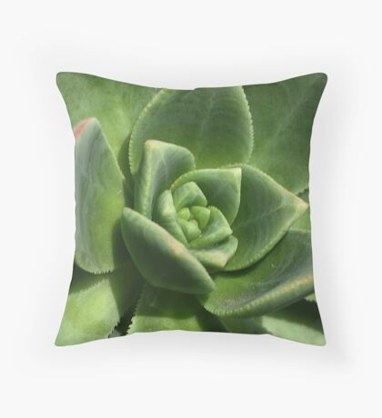 Green Faced Throw Pillow