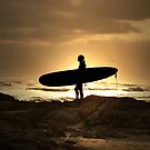 Sunset Surfer by Annette Blattman