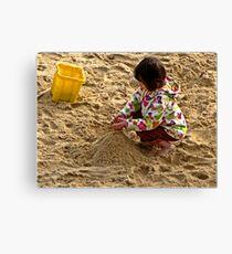 """ Making Sandcastles"" Canvas Print"