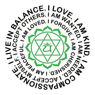 Yoga Yogi Heart Anahata Chakra Birthday Christmas by smily-tees