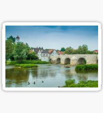 Steinerne Brücke, Harburg, Germany Sticker