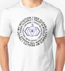 Yoga Yogi Third Eye Ajna Chakra Mantra Unisex T-Shirt