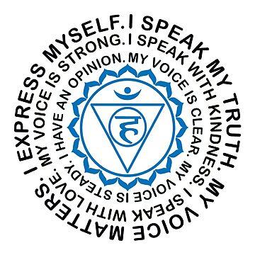 Yoga Yogi Throat Vishuddha Chakra Birthday Christmas by smily-tees