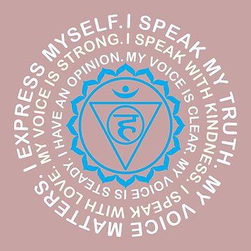 Yoga Yogi Vishuddha Throat Chakra Birthday Christmas by smily-tees
