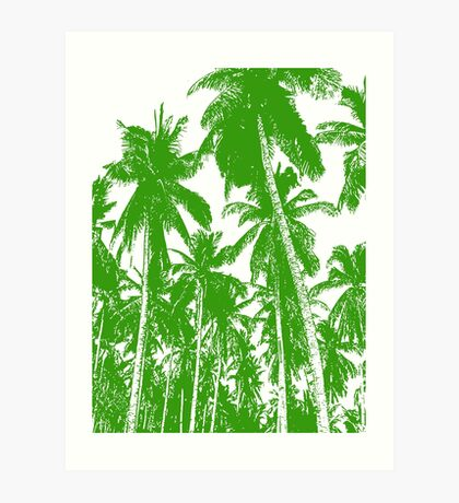 Palm Trees in a Posterised Design Art Print