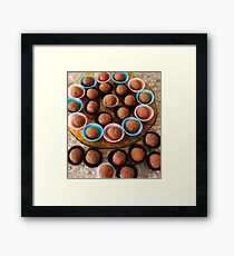 Chocolate truffles Framed Print