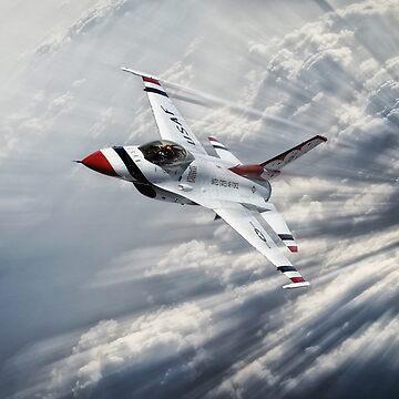 Thunderbird Flight Leader by aviationart
