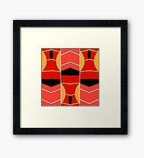 Red orange yellow abstract Framed Print