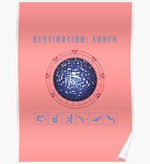 Destination Earth chevron symbols pink Poster