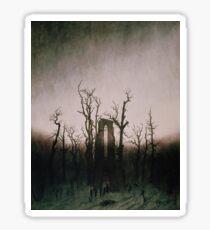 The Abbey in the Oakwood- Caspar David Friedrich Sticker