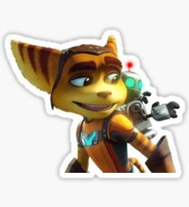 Ratchat carrying Clank  Sticker