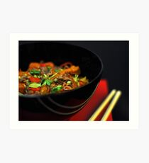 Chinese Noodles  Art Print