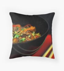 Chinese Noodles  Throw Pillow