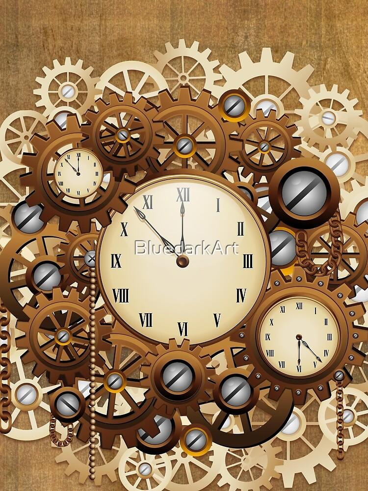 Steampunk Clocks and Gears Vintage Style  by BluedarkArt