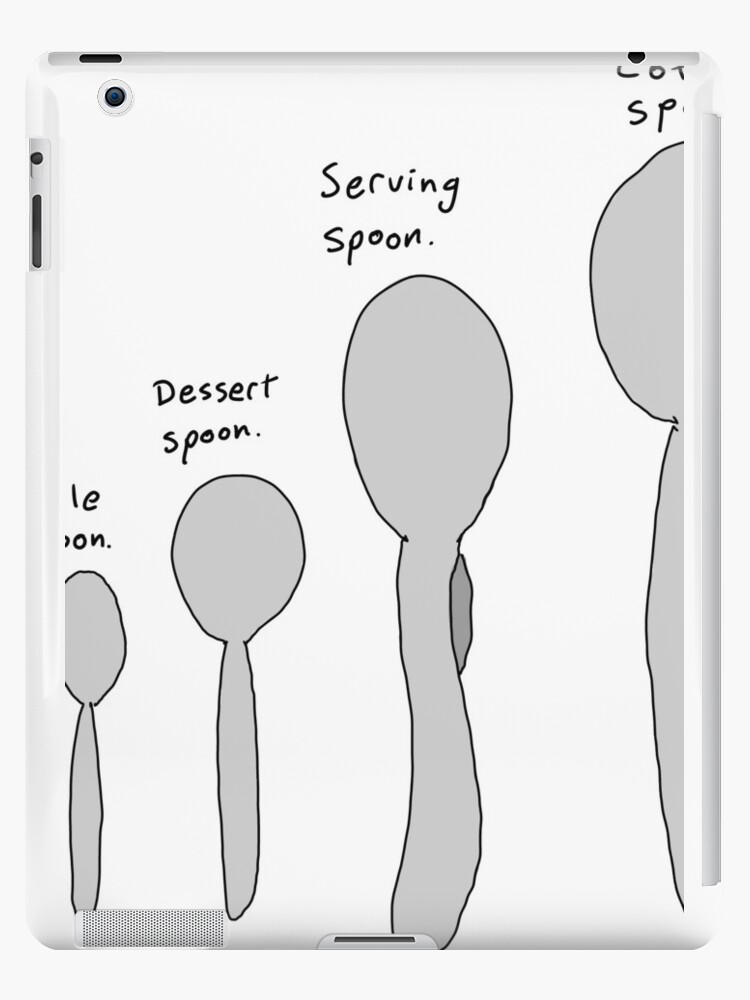 Spoon size chart | iPad Cases & Skins