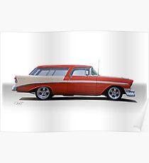 1956 Chevrolet 'Nomad' Wagon Poster