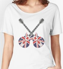 British Mod Union Jack Guitars Women's Relaxed Fit T-Shirt
