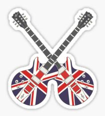 British Mod Union Jack Guitars Sticker