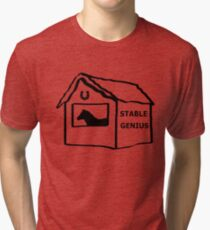 Donald Trump Stable Genius Funny Tri-blend T-Shirt