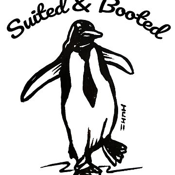 Cute Penguin with Tie - Suited and Booted by sketchNkustom