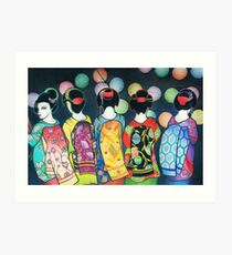 Group of Geishas Art Print