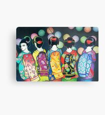Group of Geishas Metal Print