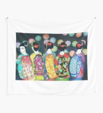 Group of Geishas Wall Tapestry