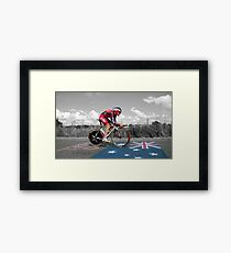 CADEL EVANS, LE TOUR DE FRANCE Framed Print