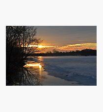 Icy Dawn Photographic Print