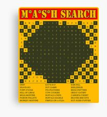 MASH 4077 Potter sayings WORD SEARCH Canvas Print