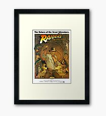 Indiana Jones and the Raiders of the Lost Ark Framed Print